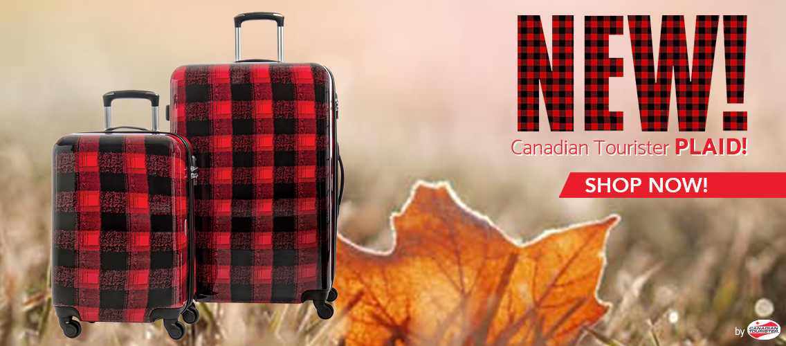 What could be more Canadian than a plaid suitcase?! Buy now!